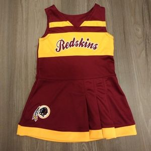 Washington Redskins cheerleader dress girls sz 2T